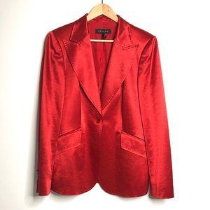 Vintage Escada Wool & Silk Red Blazer
